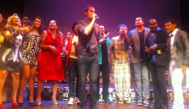 Levi Lima, vocalista do Jammil, agradeceu pelo prêmio na noite desta terça - Foto: Divulgação