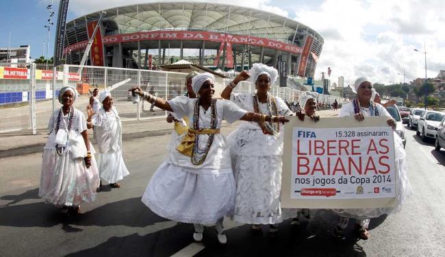 Baianas querem que a solicitação chegue também ao presidente da Fifa, Joseph Blatter - Foto: Lúcio Távora   Ag. A TARDE