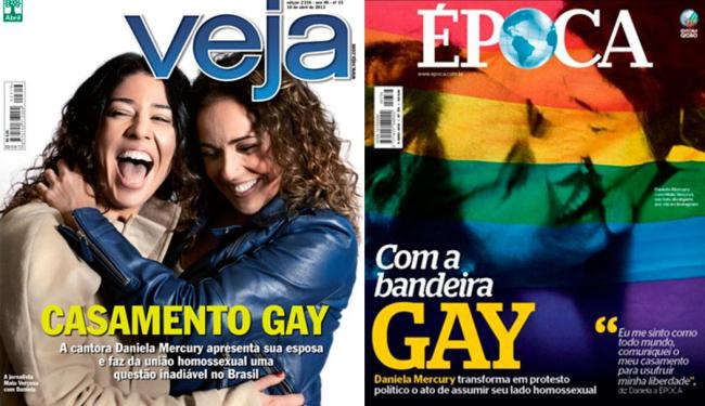 Relacionamento homoafetivo entre Daniela Mercury e Malu Verçosa ganhou destaque nacional - Foto: Reprodução