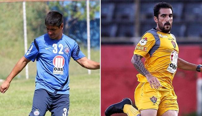 Rosales jogará seu 1º clássico no Brasil; Escudero disputou grandes jogos por Grêmio e Atlético - Foto: Eduardo Martins e Fernando Vivas   Ag. A TARDE