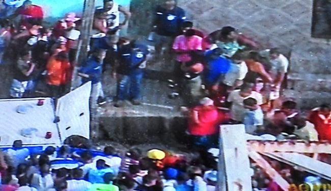 Polícia investiga triplo homicídio em Simões Filho; crime aconteceu nesta manhã - Foto: Reprodução   TV Record Bahia