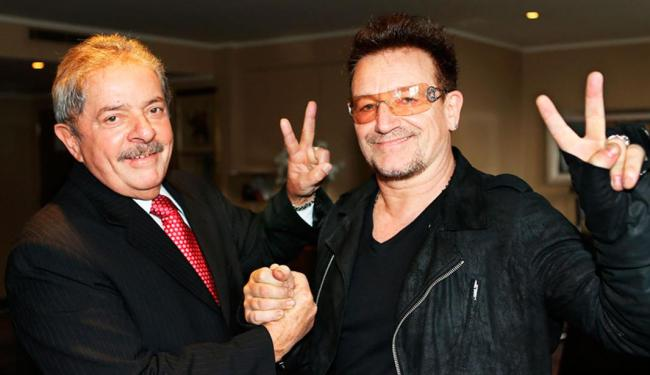 Conversa entre Lula e Bono durou cerca de uma hora - Foto: Ricardo Stuckert | Instituto Lula