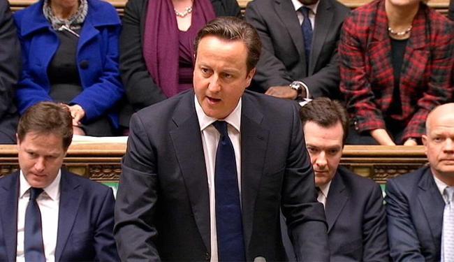 Premiê britânico discursou em homenagem à Dama de Ferro - Foto: Agência Reuters