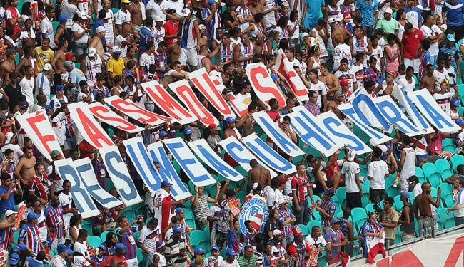 Torcida quer primeira vitória na Arena Fonte Nova - Foto: Lúcio Távora   Ag. A TARDE