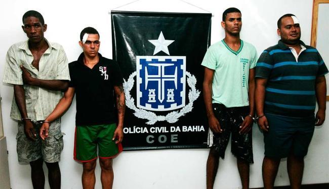 Bando foi capturado nas imediações do Shopping Caboatã, no bairro do Imbuí - Foto: Divulgação   Polícia Civil