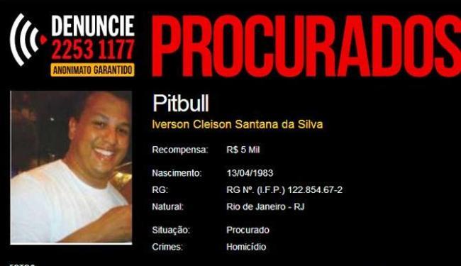 Polícia carioca paga R$ 5 mil para quem ajudar a prender sobre Iverson, conhecido como Pitbull - Foto: Reprodução
