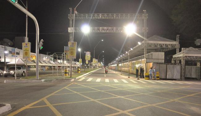 Circuito está quase pronto para os desfiles dos blocos - Foto: Jorge Magalhães | Divulgação