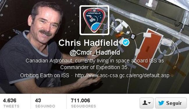Twitter do astronauta se transformou em sucesso - Foto: Reprodução   Ag. A TARDE