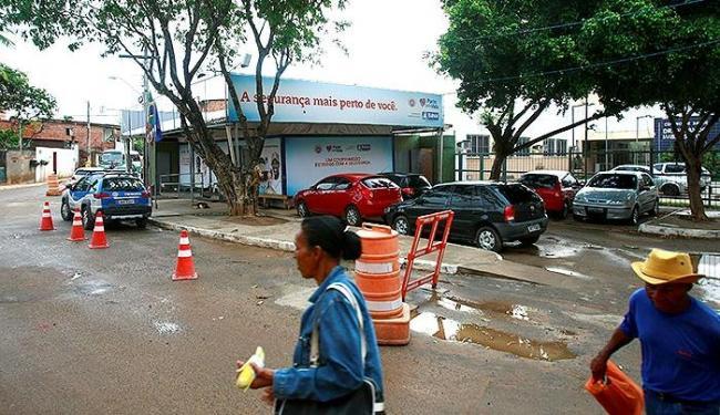 A base do Bairro da Paz funciona em um estande até conclusão da sede definitiva - Foto: Fernando Vivas | Ag. A TARDE