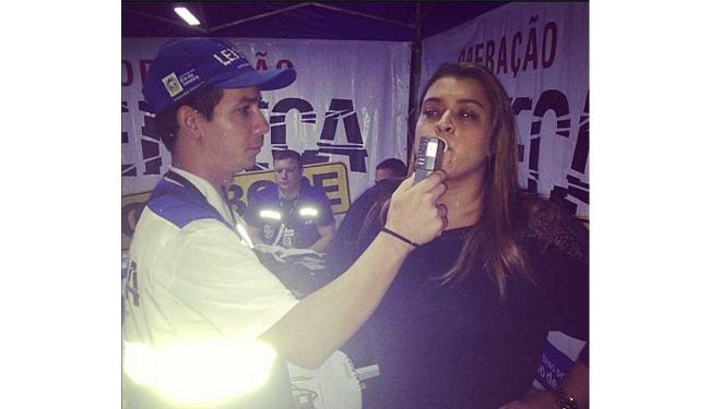 Cantora posta foto do teste do bafômetro - Foto: Reprodução   Instagram