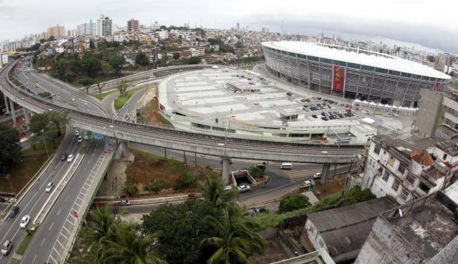 Governo conclui nesta semana viadutos de acesso ao estacionamento da Arena Fonte Nova - Foto: Lúcio Távora   Ag. A TARDE