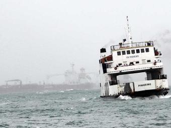 Embarcação Pinheiro é uma das seis em funcionamento neste domingo' - Foto: Lúcio Távora   Ag. A TARDE