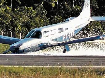 Antes da descida, o piloto precisou consumir todo o combustível - Foto: Namidianews.com