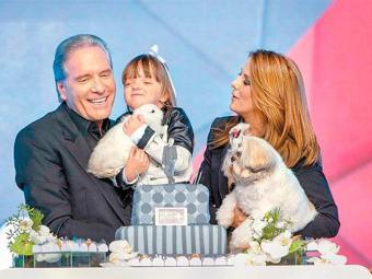 Ticiane e Justus ficaram casados por 7 anos e tiveram uma filha, Rafaella - Foto: Edu Moraes | Record | Divulgação