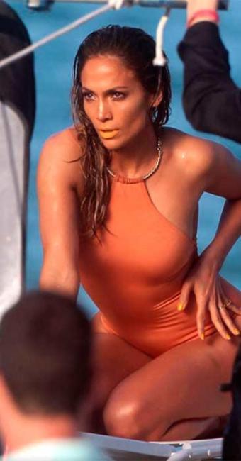 Jennifer Lopez passou por um susto, mas conseguiu completar a filmagem - Foto: Reprodução   Etertainment Tonight