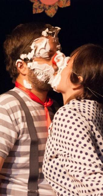 A aliança de Gabriel e Laili foi a torta na cara - Foto: Agnes Cajaíba   Divulgação