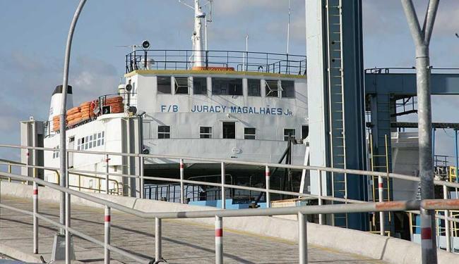 Ferry Juracy Magalhães Jr. só entrará em operação caso o fluxo de passageiros aumente - Foto: Eduardo Martins | Ag. A TARDE