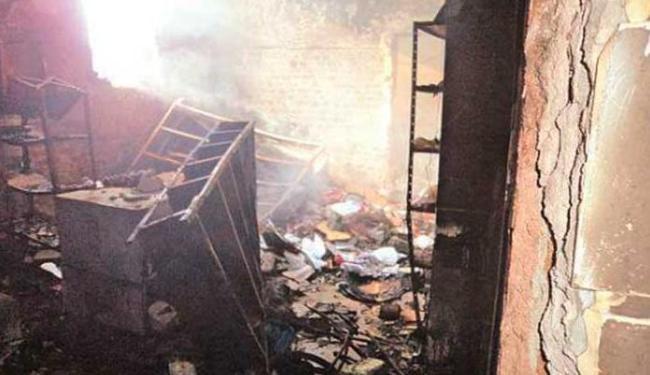 Ambiente foi destruído por incêndio durante rebelião no HCT - Foto: Divulgação