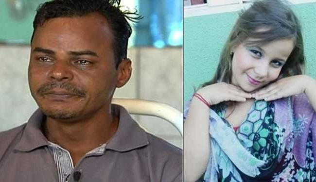 Na foto-montagem, Sinomar e a filha Kerolly - Foto: Fotos: reprodução de TV