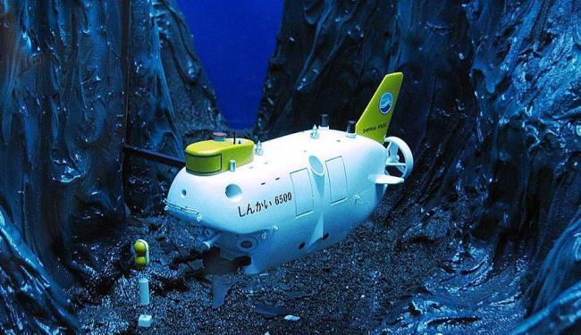 Modelo do minissubmarino Shinkai 6500 - Foto: Divulgação