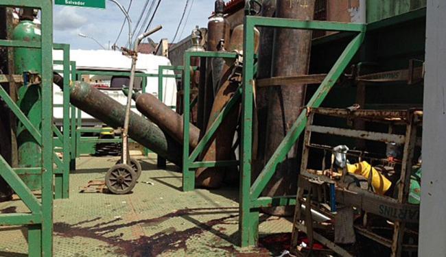 Cilindro caiu e atrito eria provocado a explosão - Foto: Divulgação