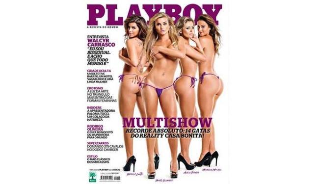A edição tem 14 gatas, mas apenas quatro delas aparecem na capa - Foto: Divulgação   Playboy