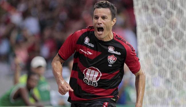 Michel marcou dois gols nos Ba-Vis e divide artilharia do estádio com Zé Roberto, do Bahia - Foto: Eduardo Martins | Ag. A Tarde