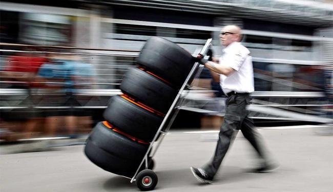 No GP da Espanha a Pirelli apresentou um novo pneu - Foto: Agência Reuters