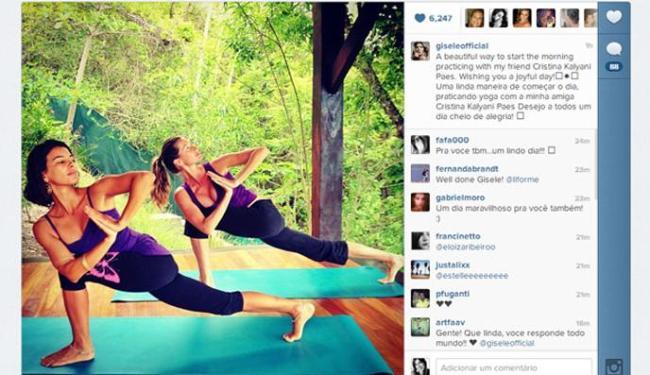 Gisele ainda desejou energia para todos os seus seguidores do Instagram - Foto: Instagram   Divulgação