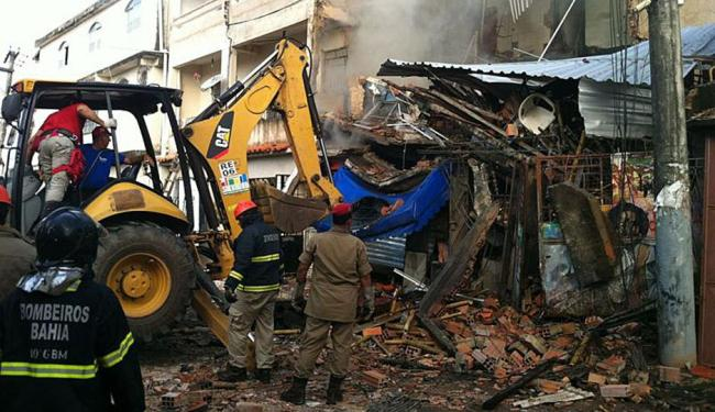 Desabamento foi causado por explosão de pólvora - Foto: PMBA | Divulgação