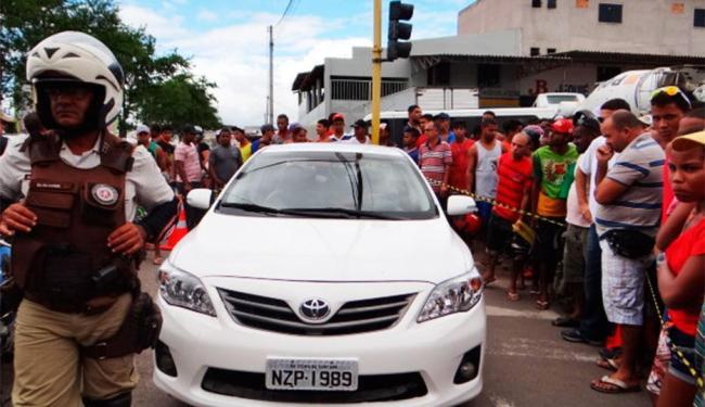 Comerciante foi executado quando reduziu a velocidade em uma sinaleira - Foto: Aldo Matos | Acorda Cidade