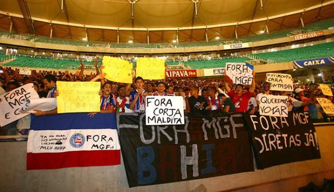 Cerca de seis mil pessoas compareceram à Arena para mostrar toda a insatisfação com a atual gestão - Foto: Fernando Amorim | Ag. A TARDE