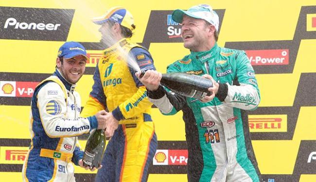Ricardo Maurício vence e se torna líder do campeonato; Barrichello ficou no segundo lugar - Foto: Eduardo Martins   Ag. A TARDE
