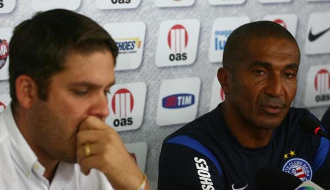 Pressionado politicamente, Marcelo Guimarães Filho apresentada novo treinador do Esquadrão - Foto: Fernando Amorim/ AG. A TARDE