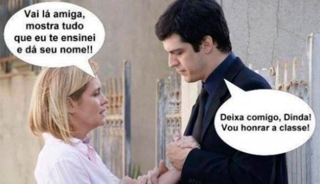 Brincadeira que circula na internet mostra Carminha aconselhando Félix - Foto: Reprodução