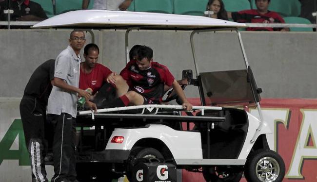 Cajá (foto) e Nino sairam machucados contra o Salgueiro e se juntam a Deola e Michel no DM - Foto: Eduardo Martins | Ag. A Tarde