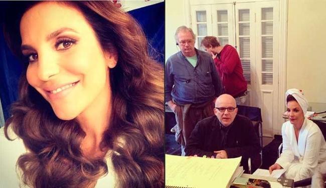 Ivete postou foto caracterizada como a mãe de Crô e ao lado do diretor Bruno Barreto - Foto: Reprodução | Instagram