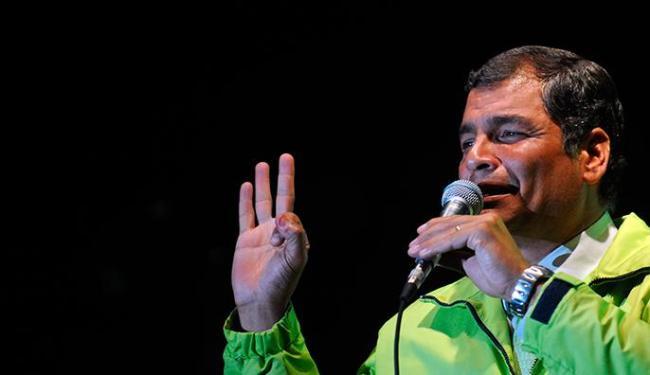 Reeleito em fevereiro, Correa tomará posse na Assembleia Nacional - Foto: Raul Arboleda | AFP