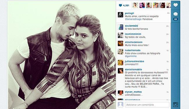 Preta engatou um romance com o modelo Thiago Tenório - Foto: Instagram | Reprodução