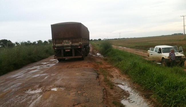 Estradas intransitáveis impedem o escoamento da produção - Foto: Divulgação | Aiba
