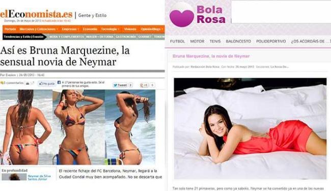Sites exaltam a beleza da namorada de Neymar - Foto: Reprodução