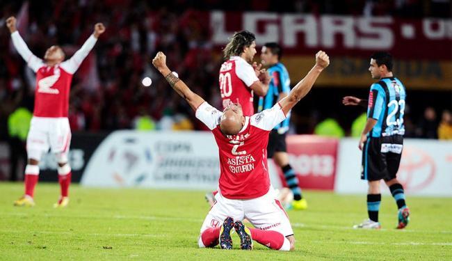 Santa Fe celebra vitória sobre o Real Garcilaso - Foto: Agência Reuters