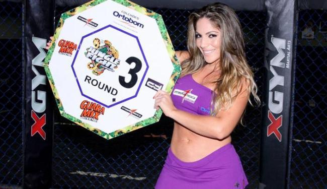 Anamara acabou arranhada após uma confusão generalizada no público durante luta de MMA - Foto: Divulgação