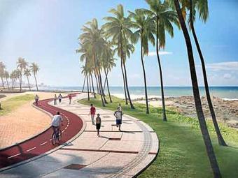Arte da Secretaria de Comunicação do Governo da Bahia mostra como ficará a ciclovia - Foto: Divulgação | Agecom