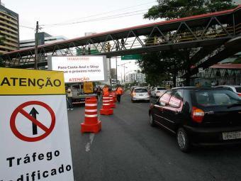 Motoristas reclamaram de mudanças no trânsito nesta segunda - Foto: Margarida Neide   Ag. A TARDE