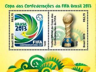 O selo comemorativo para a Copa das Confederações - Foto: Divulgação l Correios