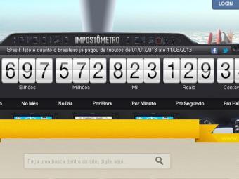 Hoje Impostômetro alcança mais de 690 bilhões de reais - Foto: Reprodução