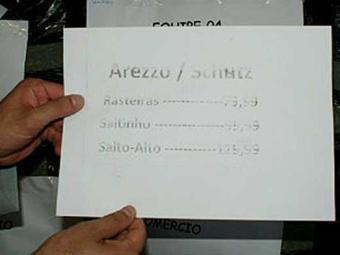 Sapatos eram vendidos por preços que variavam entre R$ 80 e R$130 - Foto: Ascom | PC Bahia