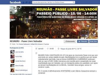 Quase três mil pessoas confirmaram presença na página do evento - Foto: Reprodução | Facebook