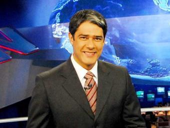 Willian Bonner, durante apresentação do Jornal Nacional, no estúdio da TV Globo - Foto: João Miguel Júnior | TV Globo